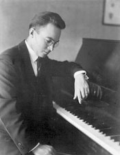 Gerhard at his piano, 1925
