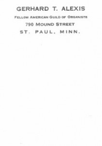 Gerhard's letterhead stationery, circa 1926